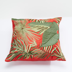 Embroidered Square Cushion - 45x45 cms