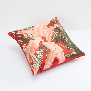 Fern Embroidered Filled Cushion - 45x45 cms
