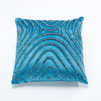 Valley Embellished Filled Cushion - 40x40 cms