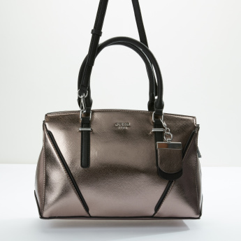 Guess Tote Bag with Zip Closure and Detachable Strap