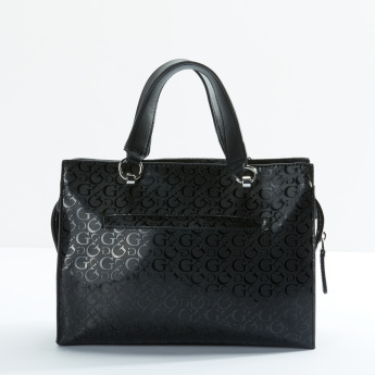 Guess Quilted Handbag with Zip Closure