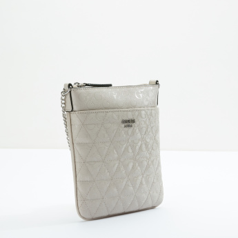 Guess Crossbody Bag with Front Open Pocket and Zip Closure