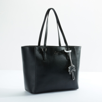 Guess Hand Bag with Zip Closure and Twin Handles