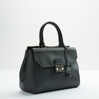 Guess Handbag with Zip Closure and Adjustable Strap