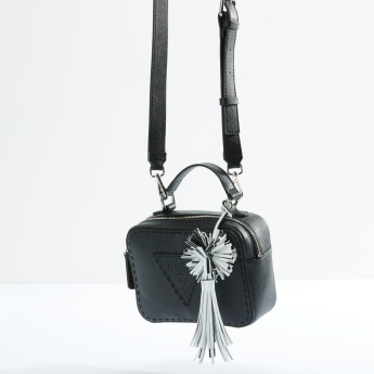 Guess Crossbody Bag with Zip Closure and Adjustable Strap