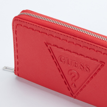 Guess Baldwin Park Embossed Wallet with Zip Closure