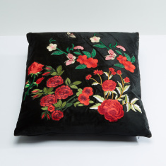 Embroidered Filled Cushion - 45x45 cms