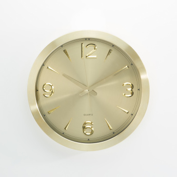 Metallic Round Wall Clock