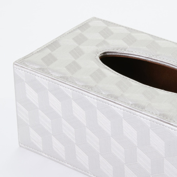 Silver Pattern Tissue Box