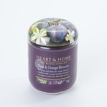 HEART & HOME Plum and Orange Blossom Jar Candle