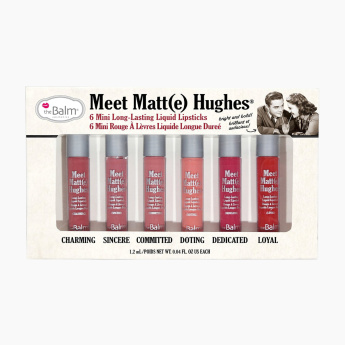 theBalm Meet Matte Hughes Mini Long-Lasting Liquid Lipstick - Set of 6