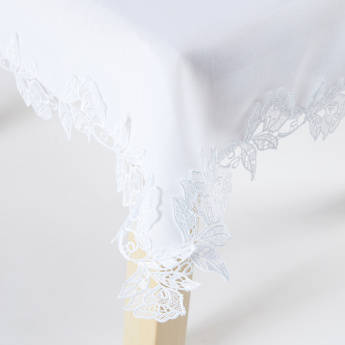 Linda Lace Detail Square Table Cover
