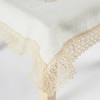 Rockford Printed Lace Detail Square Table Cover