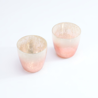 Decorative Votive Tealight Holder - Set of 2