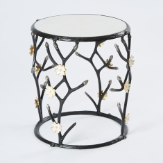 Floral Detail Accent Table
