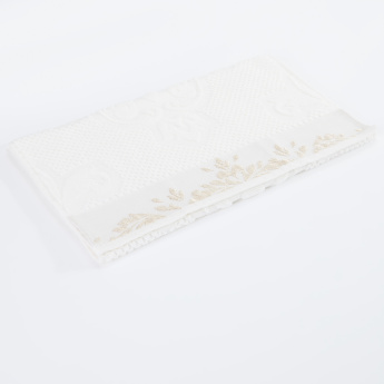 Embroidered and Textured Hand Towel - 40x70 cms