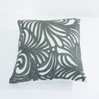 Janice Embroidered Filled Cushion - 45x45 cms