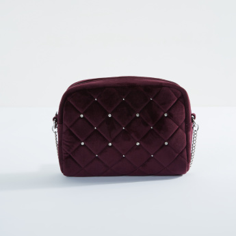Sasha Quilted Crossbody Bag with Zip Closure