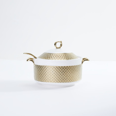 Glamour Textured Casserole with Spoon and Lid