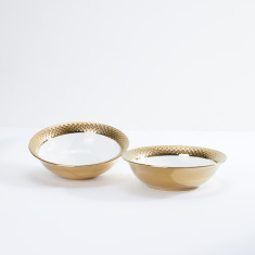 Glamour Textured Bowl - Set of 2