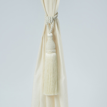 Anna Pearl Detail Curtain Tieback with Tassel Dangler