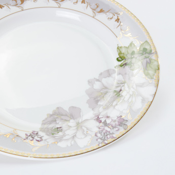 19V69 Floral Printed Round Plate
