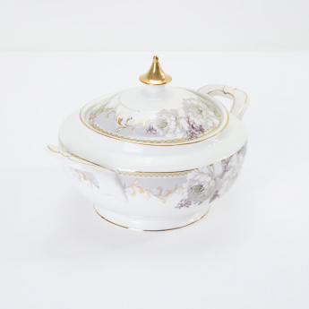 19V69 Floral Printed Soup Tureen with Lid