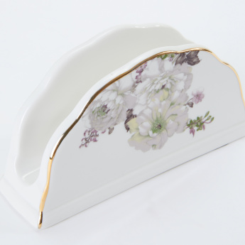19V69 Floral Printed Napkin Holder