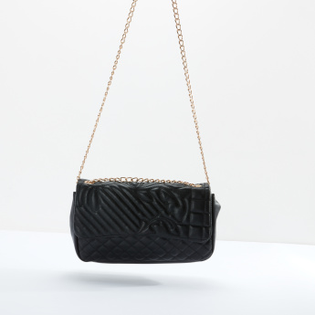 Sasha Quilted Satchel Bag with Magnetic Snap Closure