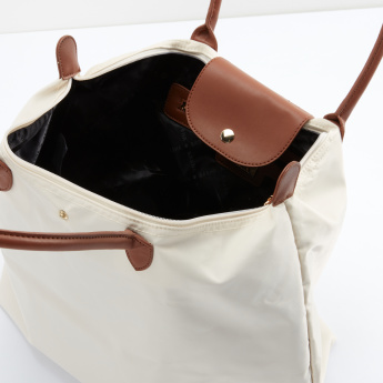 Sasha Shopper Bag with Magnetic Snap and Zip Closure