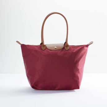 Sasha Multi-Compartment Shopper Bag with Zip Closure