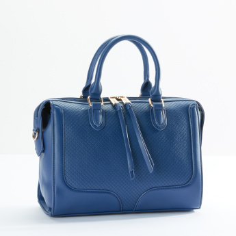 Sasha Stitch Detail Duffel Bag with Zip Closure and Twin Handles