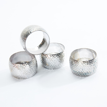 Demy Textured Napkin Ring - Set of 4