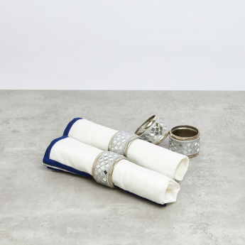 Embellished Mosaic Napkin Ring - Set of 4