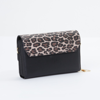 Sasha Satchel Bag with Printed Flap