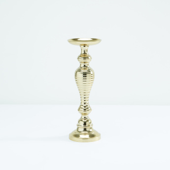 Metallic Pillar Candle Holder