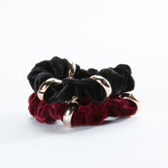 Sasha Textured Hair Tie - Set of 2