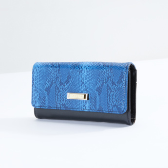 Charlotte Reid Textured Long Wallet with Flap