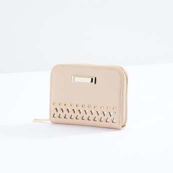 Charlotte Reid Eyelet and Cutout Detail Wallet with Zip Closure