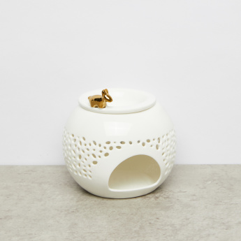 Cylindrical Cutout Detail Oil Burner with Lid