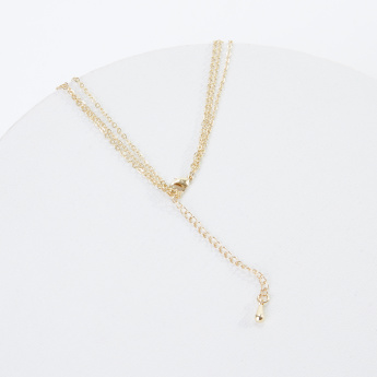 Sasha Studded Multilayer Necklace with Lobster Clasp