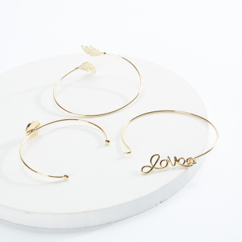 Sasha Metallic Bracelet - Set of 3