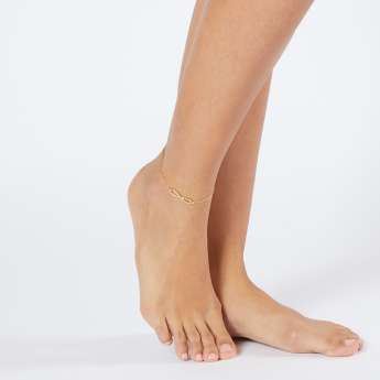 Sasha Infinity Studded Anklet with Lobster Clasp