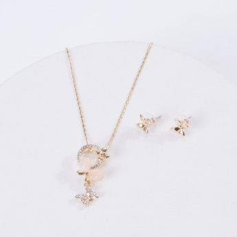 Sasha Studded Necklace and Earrings Set