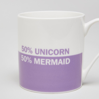 Unicorn-Mermaid Printed Dual Tone Mug