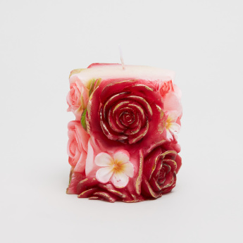 Plum Blossom Pillar Candle
