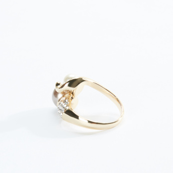 Sasha Studded Finger Ring with Pearl Detail