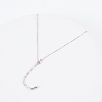 Sasha Studded Pendant Necklace with Pearl Detail and Losbter Clasp