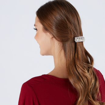 Sasha Studded Hair Clip with Pearl Detail