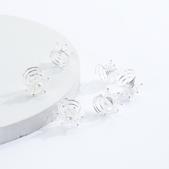 Sasha Pearl Detail Hairpin - Set of 6